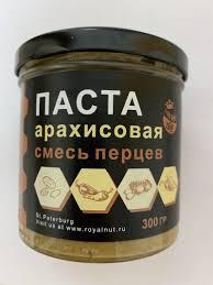 <b>ROYAL NUT</b> Арахисовая <b>паста</b> Смесь перцев (300гр)