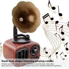 TOPROAD Retro Wooden <b>Bluetooth</b> Speaker <b>Wireless</b> 3D Stereo ...