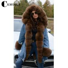 Wholesale <b>CKMORLS New Real</b> Fox Fur Parkas With Natural Fox ...