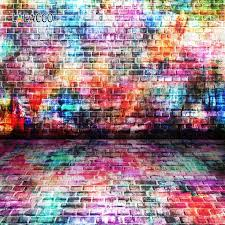 <b>Laeacco Colorful</b> Wall Backdrop For Photography <b>Color Brick</b> Party ...