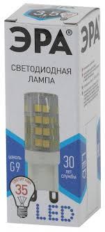 """<b>Лампа LED</b> """"капсула"""" <b>G9</b> 3.5Вт (280Лм) 4000К 230В <b>ЭРА</b> - купить ..."""