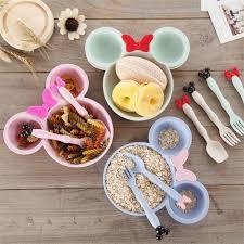 Details about <b>Kids</b> Feeding Bowl Baby <b>3</b> Pcs Tableware Natural ...