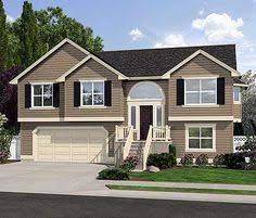 ideas about Split Level House Plans on Pinterest   House    Plan JD  Spacious Split Level Home Plan  Split Entry House