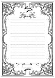 printable thank you writing paper ausruckbares briefpapier click on images to enlarge