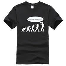 2019 summer Evolution men's T shirts <b>Stop Following Me Caveman</b> ...