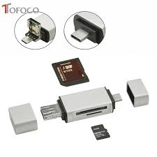 <b>TOFOCO All in One</b> Card Reader USB Type C To Micro USB 2.0 TF ...