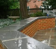 brick patio wall seat brick seat wall designs copyright macpeak landscaping inc all rights r