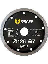 <b>Алмазный диск</b> (<b>круг</b>) <b>сплошной по</b> керамической плитке 125х7х2 ...