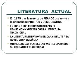 Resultado de imagen de literatura español actual