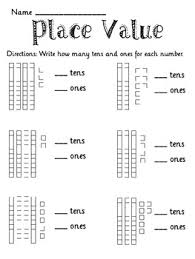 1000+ images about Kindergarten Math on Pinterest | Tens and ones ...Place Value Tens and Ones to 50 Packet - Place Value worksheets that are great for