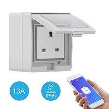 Smart Plug WiFi,<b>SONOFF S55</b> Heavy Duty <b>IP55 Waterproof</b> 13A ...