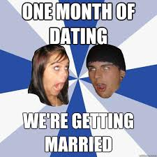 one month of dating we're getting married - Annoying Facebook ... via Relatably.com