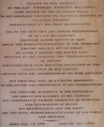 malthus s population theory writework english this is a photo of the epitaph of thomas malthus in the entrance to