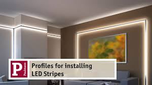 aluminium profiles for indirect lighting by led strips very easy to assemble youtube ceiling indirect lighting