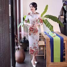 <b>Plus Size XXXL</b> Women <b>Classic</b> Cheongsam Rayon Floral Elegant ...