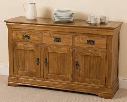 rustic solid oak cm dining table french french rustic solid oak large side board cabinet unit dining room furn