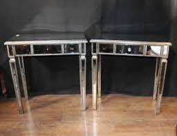 pair art deco mirror side tables mirrored occasional table furniture art deco style furniture occasional coffee