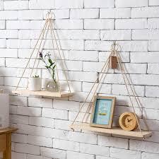 Living room <b>wall</b> decoration storage partition <b>hanging shelf</b> bedroom ...