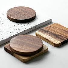"""""""<b>1Pc Wood Coaster</b> Square Round Mug <b>Coasters</b> Table <b>Mat</b> Tea ..."""