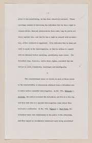 bill of rights legacy creating the united states exhibitions notes concerning the m da decision m da v arizona 1966 manuscript manuscript division library of congress 124 01 00 digital id s us0124 01