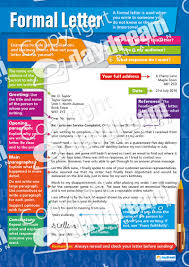 formal letter english grammar poster formal letter poster