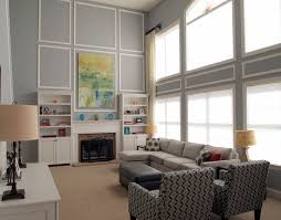 extrordinary grey wall color scheme interior living room design equipped large glass windows covering sliding curtains charming office wall color ideas
