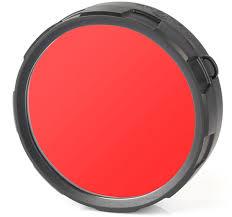 <b>Фильтр</b> для фонарей <b>Olight FM21</b>-<b>R</b>, цвет: <b>красный</b>