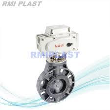 China <b>DC12V DC24V AC220V</b> Dn100 UPVC Electric Plastic Wafer ...