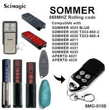 <b>Sommer Garage remote Red</b> Led 4026 868MHz Gate Garage Door ...
