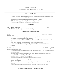 chef cv samples cooking sample chef resume objectives top chef restaurant cook resume sample