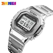 skmei 1274 luxury military men watch relogio stainless steel casual digital wristwatches square sport electronic masculino