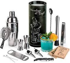 Mixology Bartender Kit: <b>14</b>-<b>Piece Cocktail Shaker</b> Set - <b>Bar</b> Tool Set ...