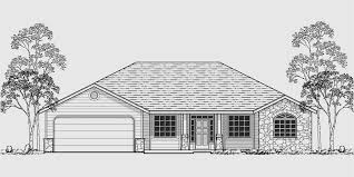 Standard House Plans  Traditional Room Sizes and Shapes Single level house plans  ranch house plans  bedroom house plans  great