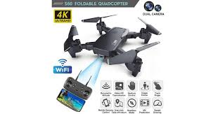 4K/1080P Ultra HD <b>Dual Camera</b> WIFI FPV Drones <b>Foldable</b> Drones ...