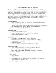 transferable skills resume sample transferable skills cover letter sample transferable skills resume sample 4510