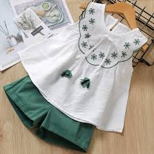 Melario Chiffon <b>Girls Clothing Sets</b> Summer Vest Two piece ...