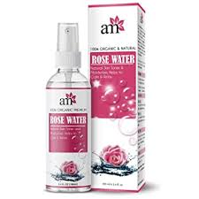 Buy AromaMusk 100% <b>Organic</b> & Natural Premium <b>Rose Water</b> For ...