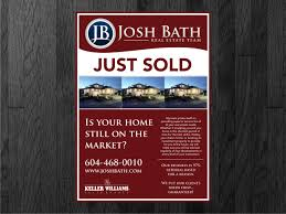 upmarket bold flyer design for josh bath by atvento graphics flyer design by atvento graphics for just listed just flyers design 858436