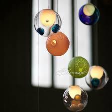 modern blown glass bubble pendant lighting blown glass lighting pendants