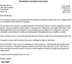 recruitment consultant cover letter cover letter consulting