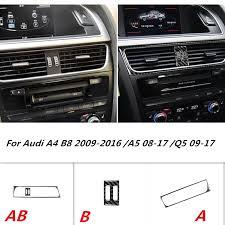 <b>Carbon Fiber Interior Middle</b> Console Air Vent Outlet Cover Trim ...