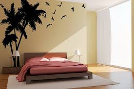 palm tree wall stickers: wall art designs palm tree wall art palm tree decal personalized name seagulls birds beach