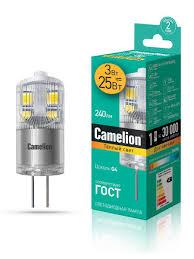 Светодиодная <b>лампочка</b> LED 3W 3000К <b>G4 Camelion</b> 9869118 в ...