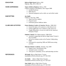 job resume examples for highschool students resume sample for high    resume  job resume examples for highschool students resume sample for high school students with no