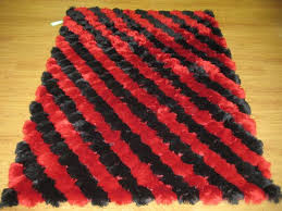 what says be mine better than a silky red and black shag rug black shag rug