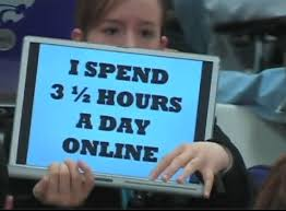 I spend 3 and a half hours a day online