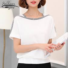 <b>2019</b> fashion bow <b>v neck sweet</b> women's clothing summer short ...