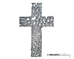 iron wall cross love: i will not forget metal wall art