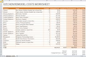 bathroom remodel cost spreadsheet com excel estimating spreadsheet template home renovation cost