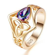 2 <b>Colors</b> Fashion <b>Hollow Gold</b>-Plated Zircon Ring in <b>2019</b> | Diamond ...